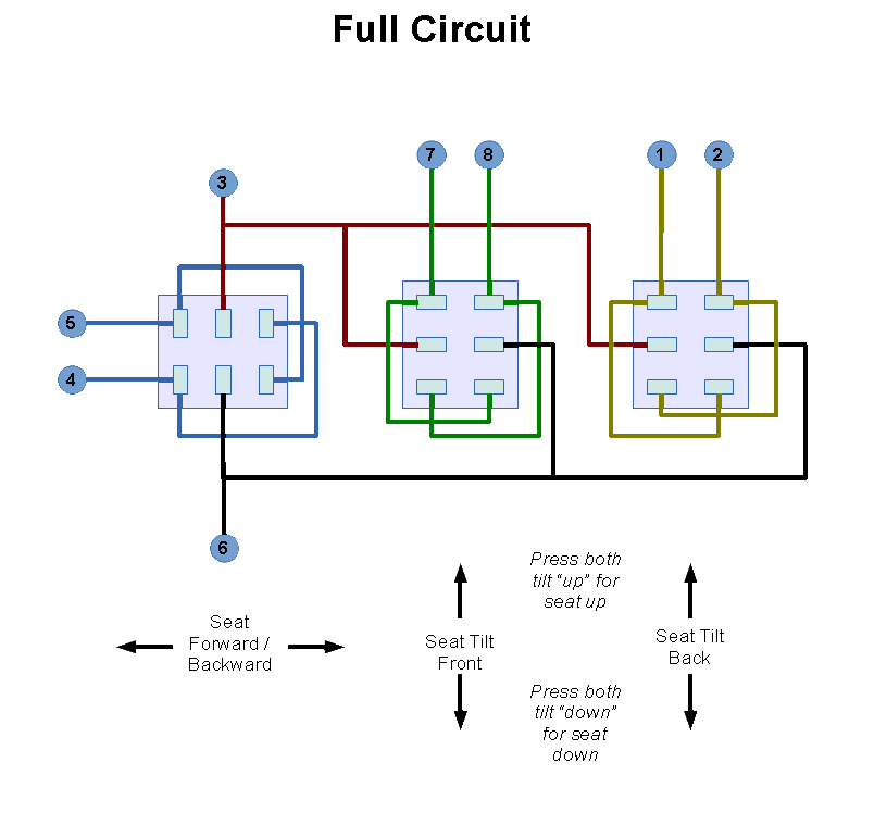 Explorer Seat Circuit_02 how to fix a 2001 ford explorer power seat switch justin a parr 2001 Ford Explorer Fuse Diagram at crackthecode.co